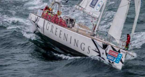 on board Greenings – Clipper Round the World Yacht Race © Clipper Ventures