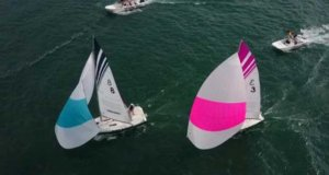 Aerial view – International Detroit Cup Match Race Regatta © Michael Schrage