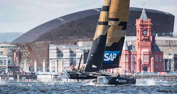 Act 3, Extreme Sailing Series Cardiff 2016 – Day 2 – SAP Extreme Sailing Team © Lloyd Images