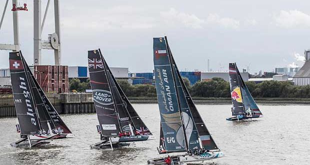 The Extreme Sailing Series 2017 - Act 5 - Racing on day 4 begins. © Lloyd Images