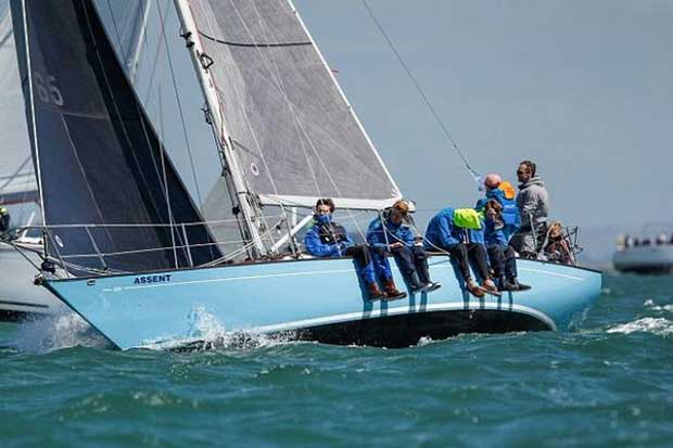 The Assent crew during racing on Day 3 of Lendy Cowes Week © Paul Wyeth / CWL