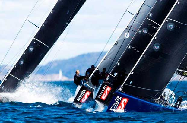 Artemis Racing leading Team CEEREF and Team Nika out of the line – RC44 Marstrand World Championship © Pedro Martinez / Martinez Studio / RC44