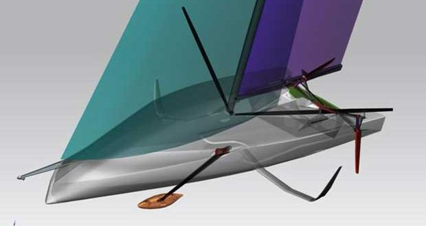 The America's Cup Class is expected to use similar foil systems to the IMOCA60 class. However there is no reference point for a round the buoys foiling monohull. Guillaume Verdier