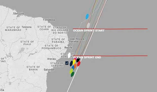 Current positions – Day 24, Race 1 – Clipper Round the World Yacht Race © Clipper Ventures