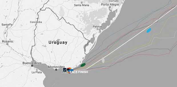 Current positions – Day 33, Race 1 – Clipper Round the World Yacht Race © Clipper Ventures