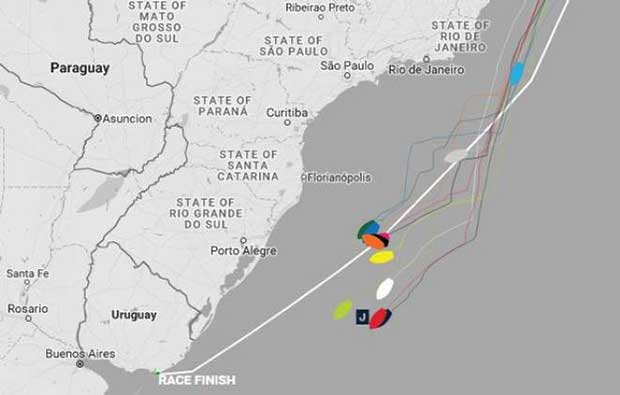 Current positions – Day 30, Race 1 – Clipper Round the World Yacht Race © Clipper Ventures