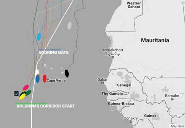 Current positions – Day 15, Race 1 – Clipper Round the World Yacht Race © Clipper Ventures