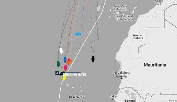 Current positions – Day 13, Race 1 – Clipper Round the World Yacht Race © Clipper Ventures