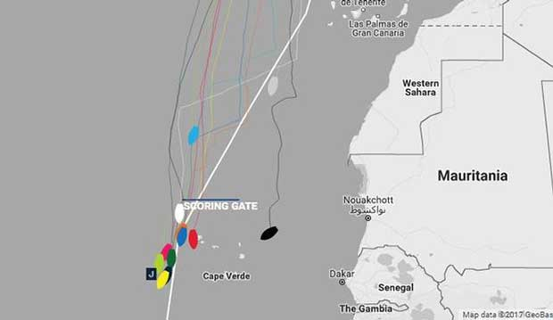 Current positions – Day 14, Race 1 – Clipper Round the World Yacht Race © Clipper Ventures