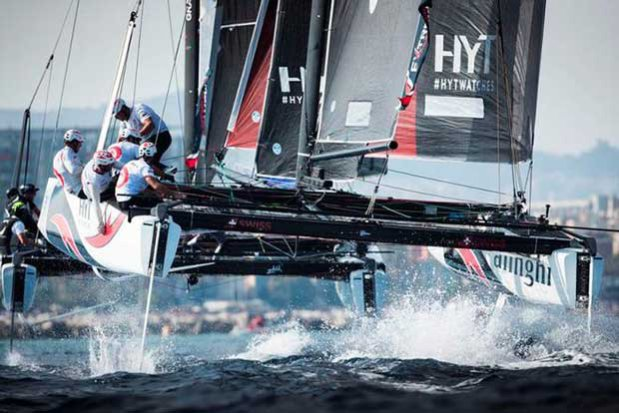 Act 4, Extreme Sailing Series Barcelona – Day 3 – Alinghi © Lloyd Images