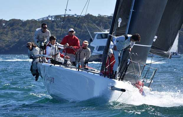 Act 4 and season winner ginger with Leslie Green on the helm – MC38 Winter Series © David Staley / MHYC