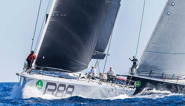 George David's Rambler 88 at today's Maxi start. - Day 2 - Maxi Yacht Rolex Cup 2017 © Rolex / Carlo Borlenghi http://www.carloborlenghi.net