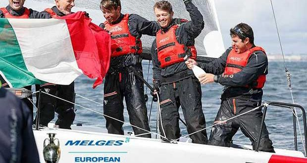 Italian TAKI 4 of Marco Zammarchi with Niccolò Bertola in helm is in the lead both in overall and Corinthian divisions of the Melges 24 European Sailing Series © Pierrick Contin http://www.pierrickcontin.fr/