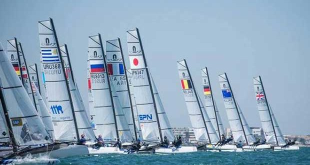 American duo lead the Nacra 17 World Championships Nacra 17 World Championship