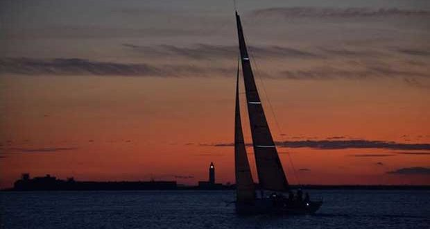 Sunset from on board Lady Mariposa – RORC Cherbourg Race © Lady Mariposa Racing