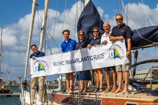 Steven Anderson, current RORC Vice Commodore (soon to be Commodore) and crew have already brought Germervescence to Marina Lanzarote ahead of the RORC Transatlantic Race © Pilar Hernández / Calero Marinas