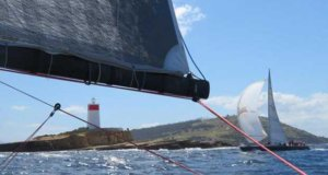 Doctor Who passes the Iron Pot at the entrance to the River Derwent – Combined Club Long Pennant Race © Michelle Denney