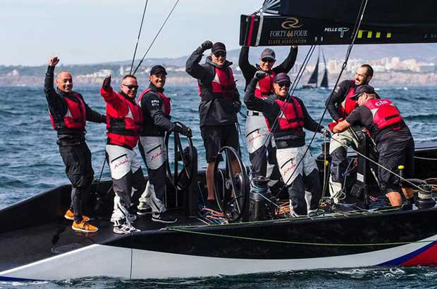 Alexander Novoselov, Ed Baird and the victorious crew of Katusha, scored their second event victory of RC44 today - 2017 RC44 Championship © Pedro Martinez / Martinez Studio / RC44