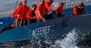 Igor Lah at the helm of Team CEEREF – RC44 Calero Marinas Cup © Martinez Studio / RC44 Class