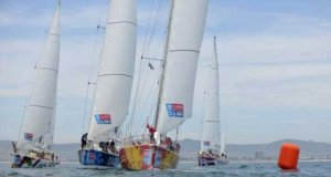 Cape Town race start from Media RIB – Clipper Round the World Yacht Race © Clipper Ventures