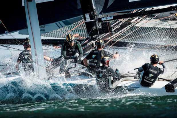 , Extreme Sailing Series San Diego - Day 3 – Phil Robertson's Team Oman Air are not out of the fight yet and are still in with a shot at the season title. © Lloyd Images