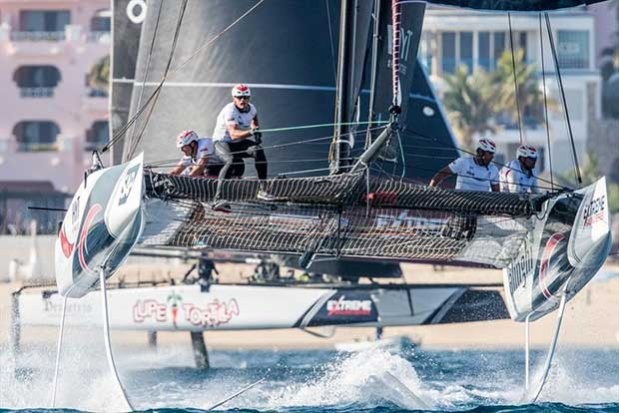 Alinghi finished the opening day of Act 8 in second position on the event leaderboard. - photo © Lloyd Images