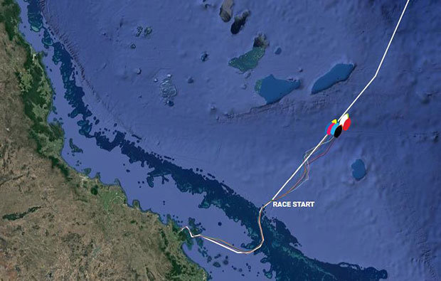 Current positions – Clipper Round the World Yacht Race 7: The Forever Tropical Paradise Race, Day 0 © Clipper Race