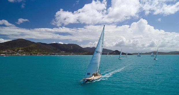 The start line for Clipper Race 7: The Forever Tropical Paradise Race to Sanya © Clipper Ventures