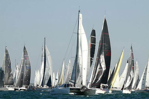 Festival of Sails 2015 - Melbourne to Geelong Passage start small - photo © Teri Dodds