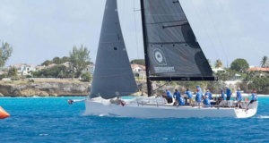 The local TP52 Conviction preparing for tomorrow's Mount Gay Round the Island Race - Barbados Sailing Week 2018 - photo © Peter Marshall / BSW