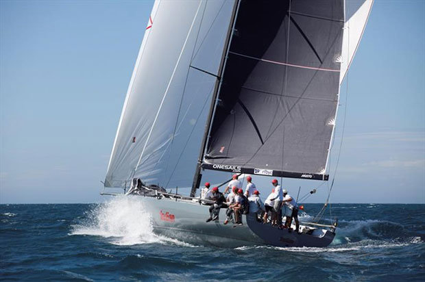 Indian winding up for the long downwind leg to Yanchep, taken shortly after rounding the Port Bouvard virtual mark – Three Ports Offshore Race - photo © Bernie Kaaks