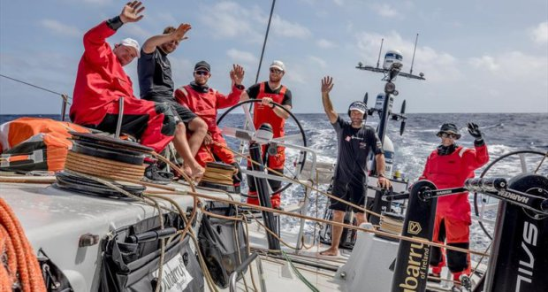 Leg 4, Melbourne to Hong Kong, day 16 Live X call to a School in Hong Kong and David Witt answers questions from the school children on board Sun Hung Kai / Scallywag. - photo © Konrad Frost / Volvo Ocean Race