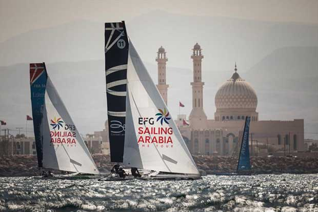 EFG Sailing Arabia The Tour on February 14th, 2018 in the city of Sur, Oman © Lloyd Images / www.lloydimages.com