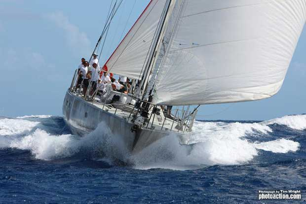 Dominique Presles designed 102ft ketch Maramar - Superyacht Challenge Antigua 2014 - photo © Tim Wright