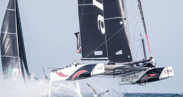 Extreme Sailing Series Act 1, Muscat - day four - Alinghi - photo © Lloyd Images