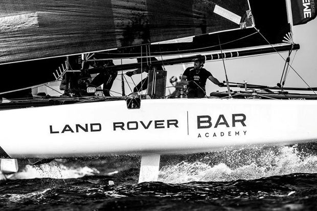 Extreme Sailing Series Act 1, Muscat - day four - Land Rover BAR Academy - photo © Lloyd Images