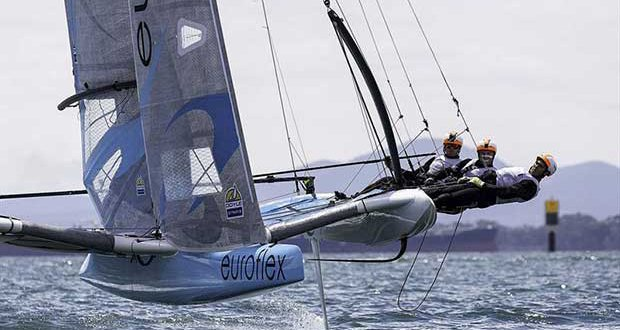 Out on the trap on feeling's Corio Bay. © Andrea Francolini