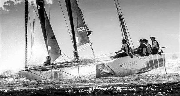 Extreme Sailing Series™ Act 7, San Diego 2017 - Day three - NZ Extreme Sailing Team - photo © Lloyd Images