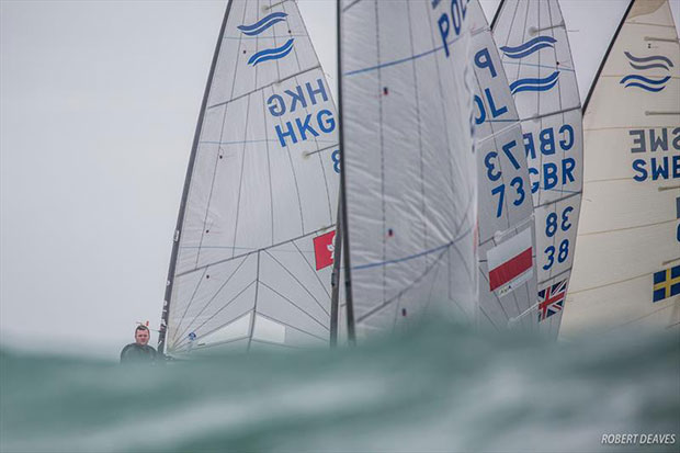 There was still the odd big wave around on day 3 of the Finn Europeans in Cádiz, Spain - photo © Robert Deaves
