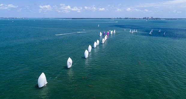J70 Class sailing in Bacardi Miami Sailing Week. - photo © Cory Silken / Miami Sailing Week