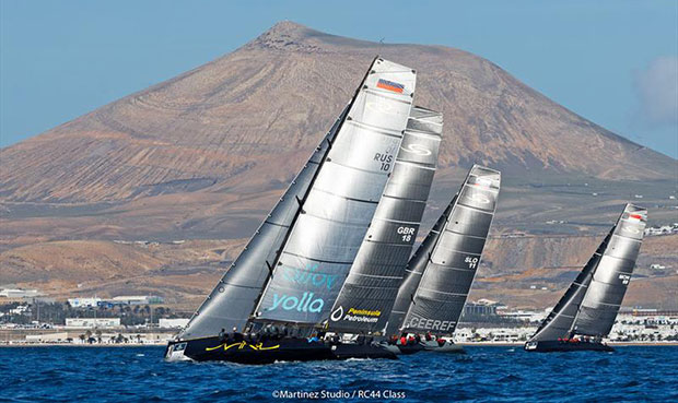 Racing off Lanzarote's moon-like landscape - 2018 RC44 Calero Marinas Cup - photo © www.MartinezStudio.es