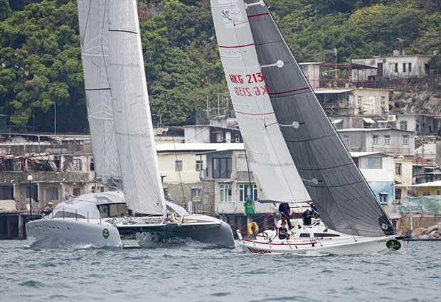 Mach 2 and Kingsman at Lei Yue Mun. Rolex China Sea Race 2018. - photo © photo RHKYC / Guy Nowell