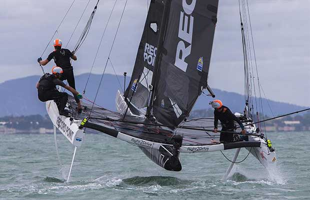 Record Point in action in Geelong - SuperFoiler Grand Prix 2018 © Crosbie Lorimer