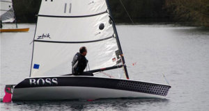 Tim Hand sailing in the Noble Marine Supernova Travellers Series at Girton © Bob Warriner