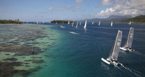 The spectacular Tahiti Pearl Regatta will be held from 7-12 May 2018 © Bertrand DUQUENNE Photography