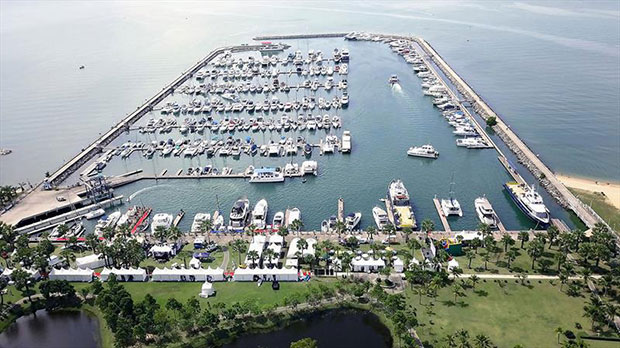 Ocean Marina Yacht Club – free berthing for participants during the regatta and centre of the social scene. - photo © Duncan Worthington