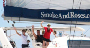 World ARC 2018: Galapagos Leg 4 - Start - Smoke and Roses - photo © World Cruising