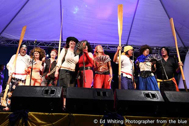Last night's Sea Shanty contest blew expectations out of the water - Antigua Classic Yacht Regatta 2018 - photo © Ed Whiting