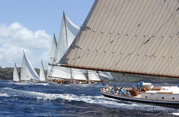The Kenny Coombs Memorial Cannon Course, perfectly set for four long and lively legs of reaching - Antigua Classic Yacht Regatta 2018 © Jody Sallons-day
