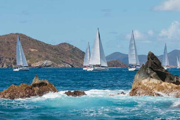 Spectacular racing at the BVI Spring Regatta resumes on Saturday 31st March, Day 2 - photo © Alastair Abrehart